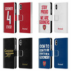 OFFICIAL ARSENAL FC GOONERS LEATHER BOOK CASE FOR APPLE iPHONE PHONES