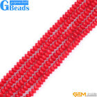 """Red Coral Gemstone Rondelle Spacer Beads For Jewelry Making Free Shipping 15"""""""
