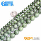 Natural Semi Precious Gemstone Green Diopside Round Jewelry Making Beads 15""