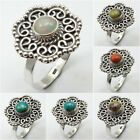 Jewelry for Her ! 925 Sterling Silver Real OPAL & Other Gemstone Ring Jewelry