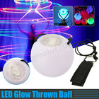 LED Multi Color Glow POI Thrown Balls Light Up For Belly Dance Dancing Hand Prop
