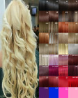 Hair Extensions Clip in Hair Extension real Human Feel Black Blonde Brown Red