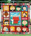Peanuts Snoopy Friends Blanket 80-102 Inch Washable PreShrink Poly Cotton Quilt image