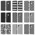 HEAD CASE DESIGNS BLACK AND WHITE PATTERNS LEATHER BOOK CASE FOR XIAOMI PHONES