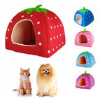 Warm Soft Strawberry Pet Dog Cat Bed House Kennel Doggy Puppy Cushion Basket Pad