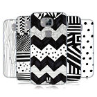 HEAD CASE DESIGNS BLACK AND WHITE DOODLE PATTERNS GEL CASE FOR HUAWEI PHONES 2
