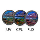 UV+CPL+FLD Lens Filter Set with Bag for Cannon Nikon Sony Pentax Camera Lens