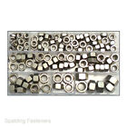 "Assorted A2 Stainless Steel UNF Hexagon Plain Full Hex Full Nuts 3/16"" To 7/16"""