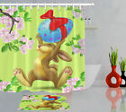72in Long Happy Rabbit &easter Egg Waterproof Fabric Shower Curtain Set & Hooks