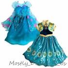NEW Disney Store Frozen Fever Elsa & Anna 2 in 1 Costume Gown Dress 5/6 9/10