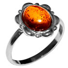 2.06g Authentic Baltic Amber 925 Sterling Silver Ring Jewelry N-A7082
