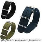Men's 18-22mm Width Military Nylon Watchband Stainless Steel Buckle watch strap image