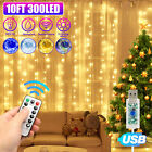 Kyпить 300LED Party Wedding Curtain Fairy Lights USB String Light Home w/Remote Control на еВаy.соm