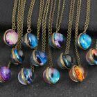 16/20mm Galaxy Pendant Moon Necklace Space Universe Unique Handmade Glass Ball