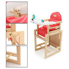 DIY Adjustable Baby Wooden Child Seating Feeding High Chair with Soft Cushion