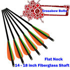 14-18 in Crossbow Bolts Flat Nock Fiberglass Arrows for Archery Hunting Outdoor