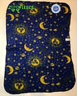 "ZooFleece Blue Sun Moon 30X40"" Baby Blanket Kids Night Sky Christmas Quilt image"