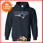 New England Patriots Logo Tom Brady Hoodie NFL Sweatshirt Navy Cotton Tee Shirt on eBay