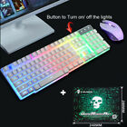 T6 Rainbow Backlight Usb wired Gaming Keyboard and Mouse Set for PC Laptop