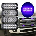 nw 12LED Car Truck Emergency Warning Light 18W Van SUV Flashing Lamp Bar