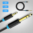 "3.5mm 1/8"" Male to 6.35mm 1/4"" Male TRS Stereo Audio Cable for Amplifier Guitar"