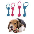 2x Strong Puppy Dog Pet Tug Play Cotton Rope Chew Toy Ball Fun Bite Toy Durable