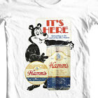 Hamm's Beer T-shirt Bear retro vintage style distressed print cotton graphic tee image
