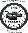 1968-2019 FORD MUSTANG BULLITT WALL CLOCK-FREE USA SHIP-NEW!