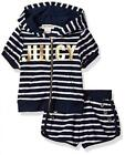 Внешний вид - Juicy Couture Girls Navy Striped 2pc Short Set Size 2T 3T 4T 4 5 6 6X