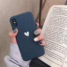 For iPhone 11 Pro Max XR Xs 8 Ultra Slim Case Matte Heart Protective Phone Cover