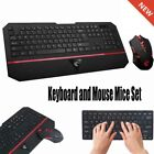 2.4GHz Ultra-slim Ergonomic Wireless Combo Keyboard and Mouse Mice Set For PC