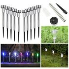 10 Solar Powered Garden Lights Stainless Steel Post Patio Outdoor Led Lighting