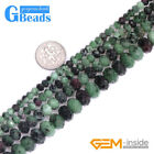 Natural Semi Gemstone Faceted Rondelle Ruby Zoisite Spacer Jewelry Making Beads
