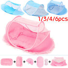 Baby Travel Bedding Crib Folding Infant Mosquito Nets Cot Tent Bed Mat Pillow