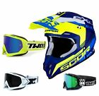 Scorpion VX-16 Offroad Arhus Air Crosshelm blau neon gelb TWO-X Race Crossbrille