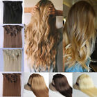 Ash light golden dark medium blonde brown Hair Extensions Clip in feels Human