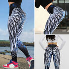 Womens Ruched Push Up Leggings Yoga Pants Anti Cellulite Sports Scrunch Trousers