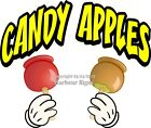 Внешний вид - Candy Apples DECAL (Choose Your Size and Color)  Concession Food Truck Sticker M