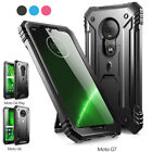 Moto G7 / G7 Plus ,Poetic® [Dual Layer] Shockproof Hard Shell Case Cover