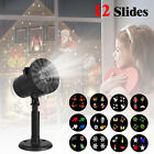Christmas Stage Light Laser Xmas Moving Snowflake Lights Projector Snow Lamp