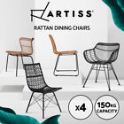 Artiss Outdoor Dining Chairs Garden Furniture Wicker Rattan Chair Patio Cafe X4