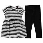 Lonsdale Baby Kids Girls Stripe Dress Clothing Set Short Sleeve Crew Neck Warm