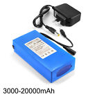12V 3000-20000mAh Lithium Rechargeable Li-ion Battery Pack US PLUG Charger
