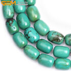 "Gemstone Column Green Turquoise Loose Beads For Jewelry Making Strand 15"" DIY"