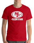 SAN FRANCISCO 49ERS RED T-Shirt WHITE Graphic Cotton Adult Logo  S-2XL $12.49 USD on eBay