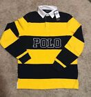 NEW POLO RALPH LAUREN RUGBY LONG SLEEVE SHIRT MSRP $100.00 65% OFF CLASSIC FIT