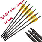 """16"""" Archery Hybrid Carbon Crossbow Bolts Arrows for Bow Hunting Shooting 6/12pcs"""