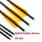 """22"""" Archery Hybrid Carbon Crossbow Bolts Arrows for Bow Hunting Shooting 6/12pcs"""