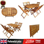 5/7 Pcs Solid Wood Outdoor Dining Set Garden Folding Table & Chairs Furniture Uk
