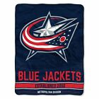 """Blue Jackets OFFICIAL National Hockey League, """"Puck"""" 50""""x 60"""" Sherpa Throw  by T $35.35 USD on eBay"""
